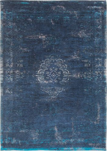 tappeti Louis De Poortere AV 8254 Fading World Medaillon Blue Night