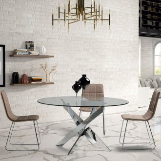 tavolo Anversa Aragon 891 chrome 1