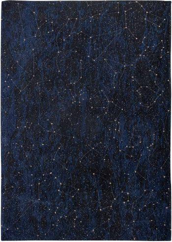 Louis De Poortere tappeto Fischbacher 9060 Celestial Midnight Blue