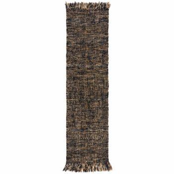 Anversa Tappeti Idris Jute Wool Idris Black Natural 5